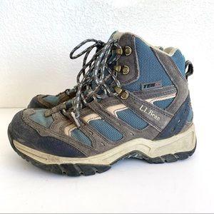 LL Bean Blue Gray High Top Outdoor Hiking Boots